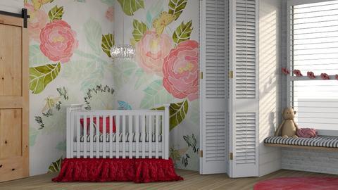 Pink Flower - Kids room  - by Kelli Mallory