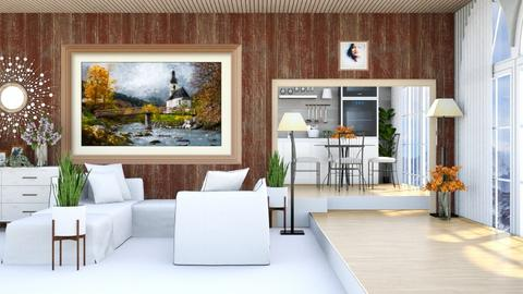 elevated LV and Kitchen - Living room  - by Siti Idrus
