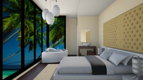 beach view - Modern - Dining room  - by Navnita