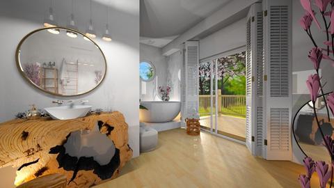 Cherry Blossom Bathroom - Bathroom  - by ChichiAsr