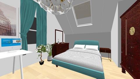 My bedroom Blue - Modern - Bedroom  - by staisy_piulskaya