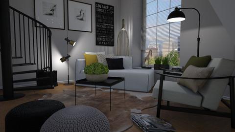 Loft corner - Living room  - by Tuija