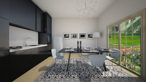 blue and black  - Modern - Kitchen - by jana krstic