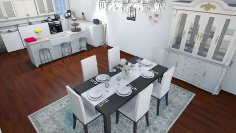Family kitchen Livingroom - Classic - Kitchen  - by AURORA SCOTT ALLEN