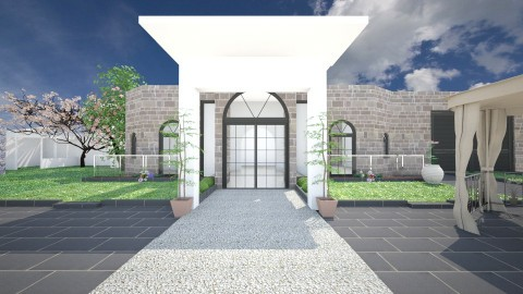 Modern Mansion outdoors - Modern - Garden - by mmt_regina_nox