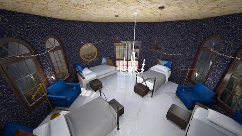 ravenclaw dormitory - Bedroom  - by nutmeglemon