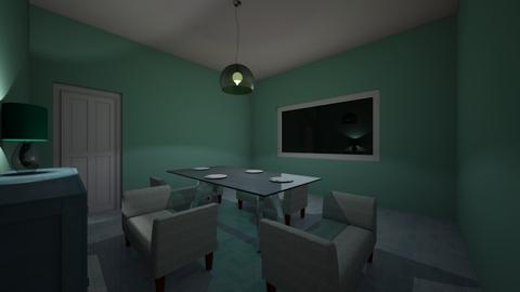 Green Dining - Modern - Dining room - by pepperpodge123