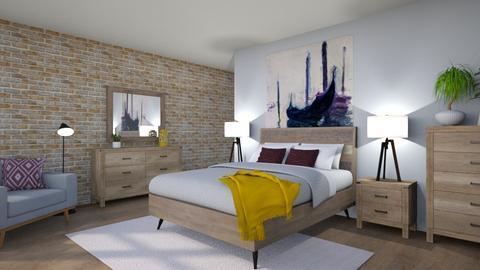 Mid Century Bedroom - Bedroom  - by CassW