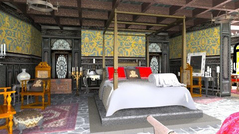Medieval master bedroom - Classic - Bedroom  - by XValkhan