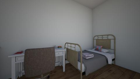 Dorm Room - Bedroom  - by elianagreenberg25