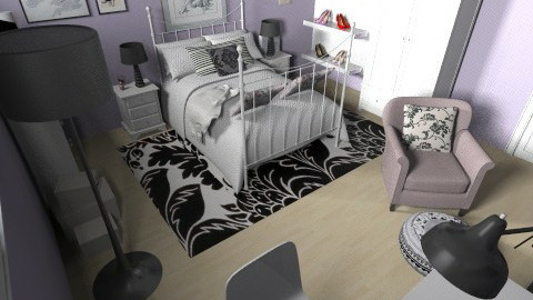 blacklillac - Feminine - Bedroom - by Gabriella Aloia