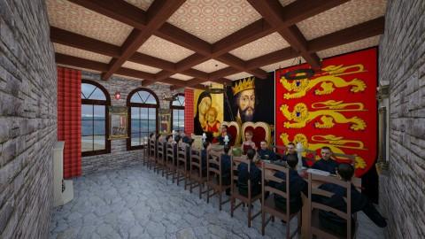 Castle - Vintage - Dining room  - by BarcaNumber10