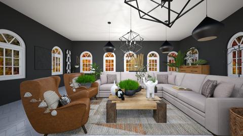 Brown or black livingroom - Modern - Living room  - by designer408340284