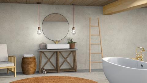 Rattan bathroom - Bathroom  - by Maaikevh