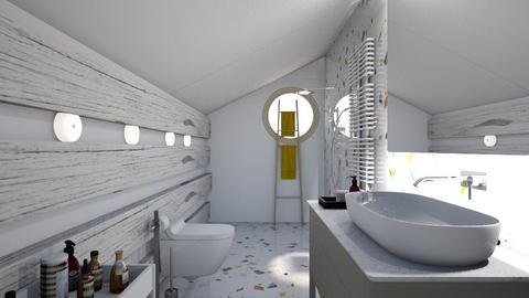 sloped bathroom - Modern - Bathroom  - by augustmoon