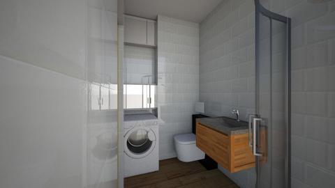 Bath_SkyBlue_1_pralka - Bathroom  - by Dario79