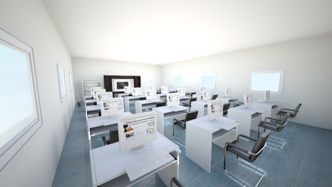 salon de computo - Minimal - Office  - by ASU ARQUITECTURA