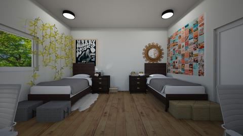 decorated dormroomcollege - Bedroom  - by MillieBB_fan