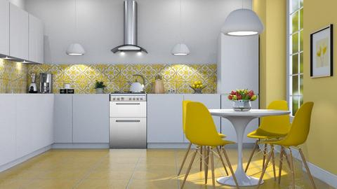 Sunny Yellow - Kitchen  - by GraceKathryn