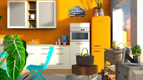 Orange - Kitchen  - by ZuzanaDesign