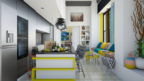 happy kitchen  - Modern - Kitchen  - by Ida Dzanovic