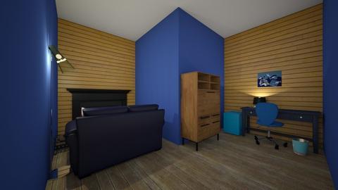 blue office - Office  - by percy_jackson_geek