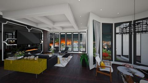 penthouse 1 - Living room  - by sarasepideh