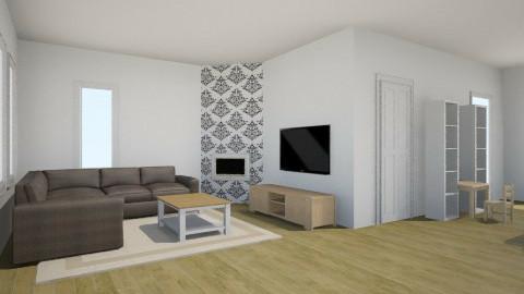 First design - Retro - Living room  - by w2nielsje