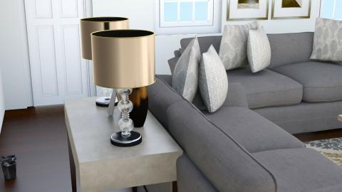 V Little Foyer Table - Rustic - Living room  - by queenthriftalot