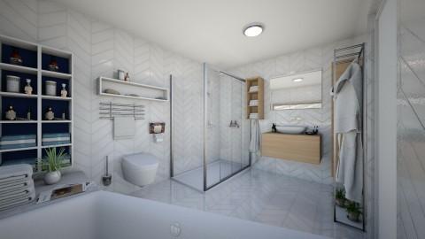 Chevron - Eclectic - Bathroom  - by Theadora