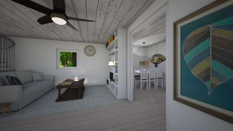 Deluxe cabin in the woods - Rustic - Living room  - by white_dove