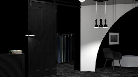 dark dressing room - Modern - by designkitty31