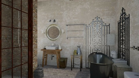 Industrial Bathroom - Vintage - Bathroom  - by idna