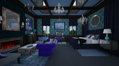 Blue Vintage Bedroom - Vintage - Bedroom  - by Pirschjaeger