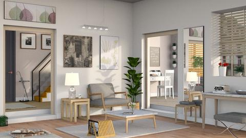 Neutrals 3 - Living room  - by Sally Simpson