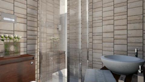 Small House with Pool 4 - Modern - Bathroom  - by ayudewi