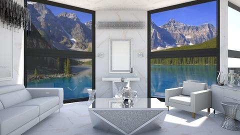 White paradise with view - Living room - by ilikalle
