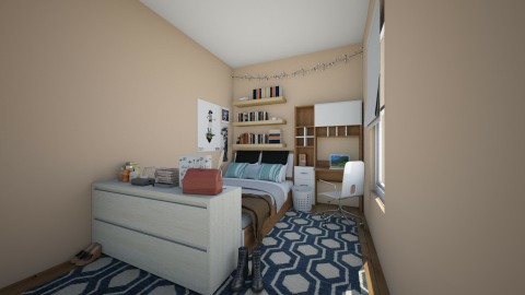 dormroom - Minimal - Bedroom  - by LaurenLakin