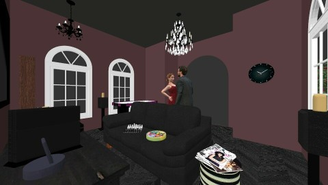 Gothic Hang Out Room - Minimal - by Neon_Gravestones