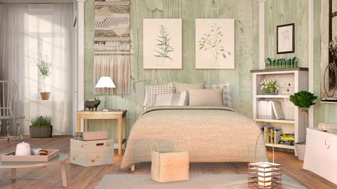 Sage Green Bedroom - Country - Bedroom  - by Sally Simpson