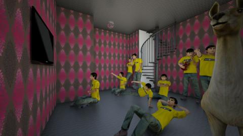 ALBERTO DANCE MOVIE   - Bathroom - by christmas llamaberto kwaii