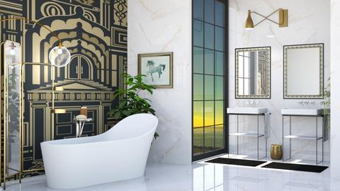 art deco bathroom - Bathroom  - by rasty