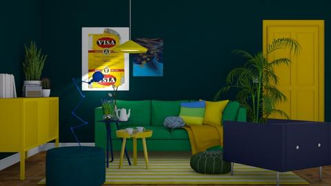 Green Blue and Yellow - Modern - Living room - by HenkRetro1960