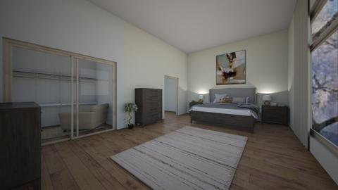 Cream Master Bedroom - Bedroom  - by Thekickfamily