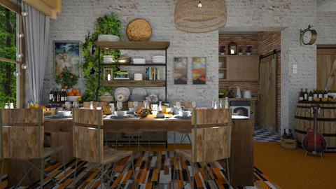 Orange Carpet - Eclectic - Dining room  - by Ida Dzanovic