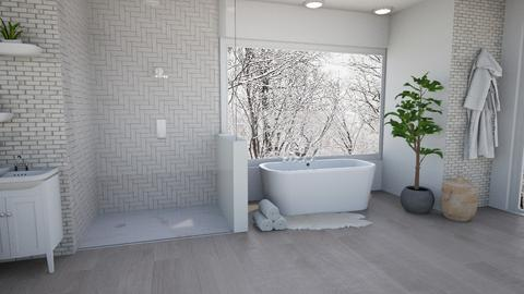 White Bathroom - Modern - Bathroom  - by dia17a