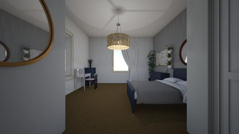 Blue bedroom - Modern - Bedroom  - by Annabel C