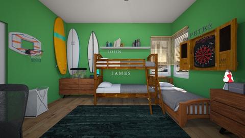 3 Boys - Bedroom  - by SammyJPili
