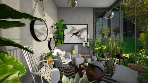 Garden Room - Eclectic - Living room  - by camilla_saurus