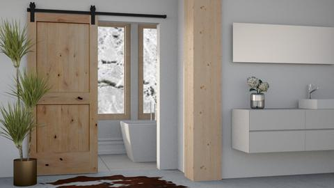 Simple Winter Bath - Country - Bathroom  - by millerfam